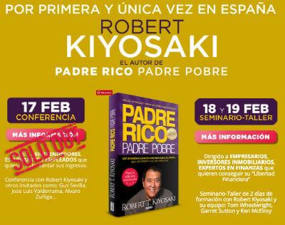 Conferencia de Kiyosaki para aprender a ganar dinero