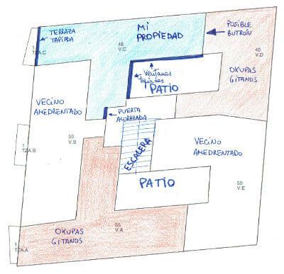 Plano edificio okupado