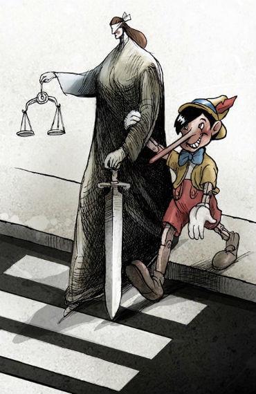 El juez ingenuo guiado por la Mentira