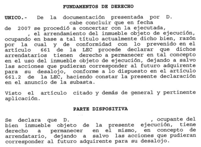 Resolución judicial del juez ingenuo