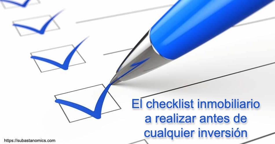 Checklist inmobiliario